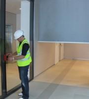 Testing the smoke curtain control panel
